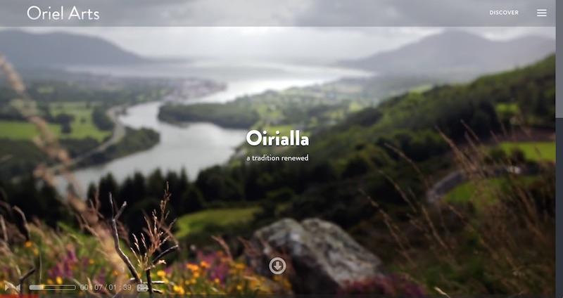 Oriel Arts project website