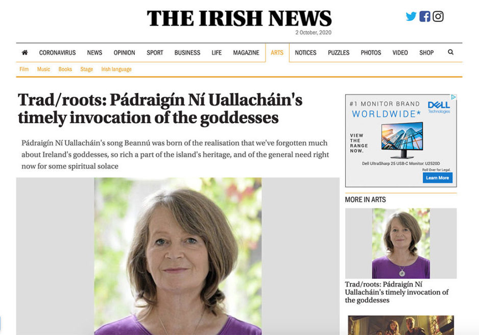 Pádraigín Ní Uallacháin Irish News interview